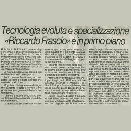 """Tecnologia evoluta e specializzazione """"Riccardo Frascio"""" è in primo piano"""