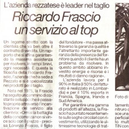 Riccardo Frascio, un servizio al top